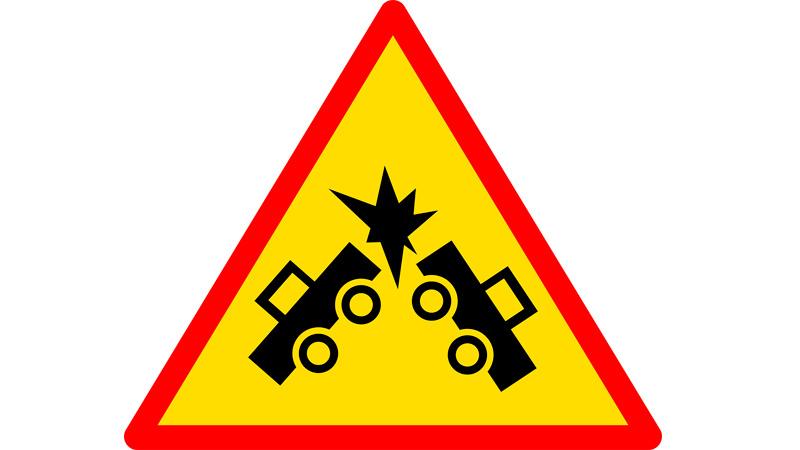 Señal choque coches
