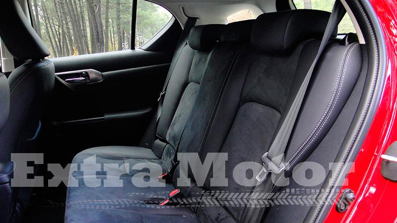 Prueba Lexus CT 200h, asientos traseros