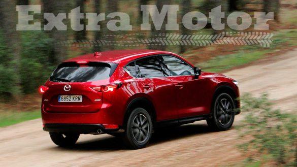 Prueba Mazda CX-5, tres cuartos trasero, pista