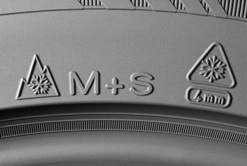 simbolos M+S de neumáticos