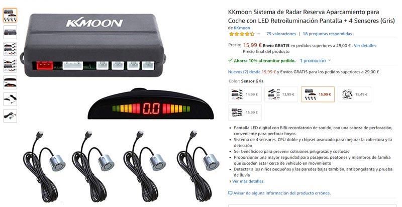 sensor de aparcamiento-comprar cosas para el coche