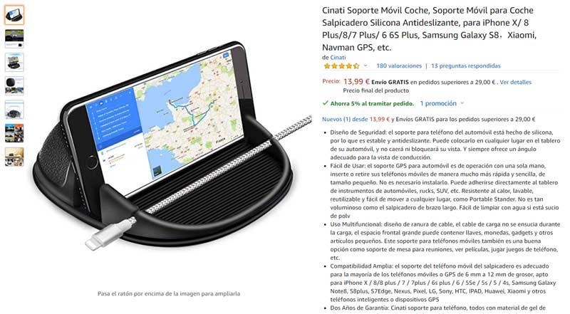 soporte para móvil